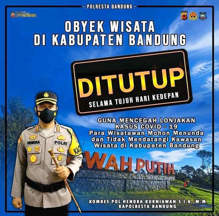 Obyek Wisata di Kabupaten Bandung Kembali Diptutup oleh Polresta Bandung, Ada Apa Yaaaa ?
